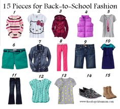 Back to School Fashion for Kids: 15 Items, 40 Looks #FashionFriday | Afropolitan MomAfropolitan Mom