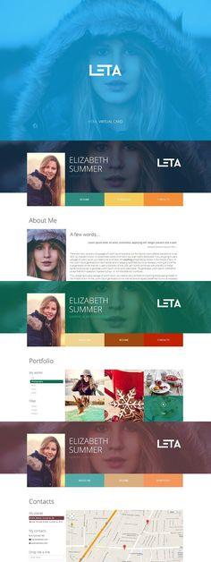 LETA - Responsive HTML Virtual Card. Script Fonts