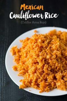Mexican Cauliflower Rice (Coliflor Arroz Rojo)   http://eatwithinyourmeans.com