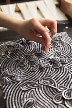 Fashion Atelier - haute couture embroidery; embellishment detail; fashion studio // Broderies Lanel