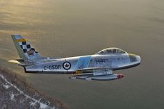 Canadian Sabre Over Cold Lake, Alberta, Canada Military Jets, Military Aircraft, Air Fighter, Fighter Jets, Sabre Jet, Canadian Army, Canadian History, Jet Plane, Fighter Aircraft