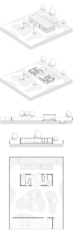 Unbelievable Modern Architecture Designs – My Life Spot Revit Architecture, Architecture Visualization, Architecture Graphics, Architecture Portfolio, Architecture Drawings, House Architecture, Planer Layout, Architecture Presentation Board, Architectural Section