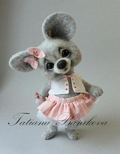 So cute! all needle felted: