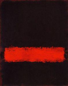 Black, Red and Black Mark Rothko,1968.