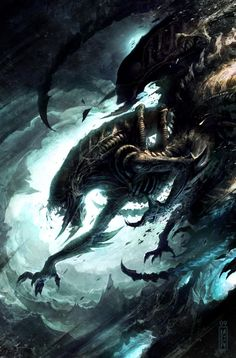 Check out these incredibly badass illustrations featuring Aliens and Predator looking insanely menacing. These pieces were created by artist Raymond Swanland, and I love the wild fury captured in the art.