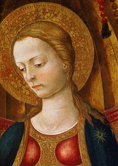 Neri di Bicci. Detail from Virgin and Child on the Throne, 15th Century.
