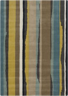 Beautiful color palate on this rug could be the jumping off point for the entire room. From the Sanderson Collection by Surya (SND-4502)