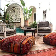 Moroccan Dreaming – Electric Eyes Patio Grande, Moroccan Interiors, Moroccan Decor Living Room, Living Room Decor, Living Room Furniture, Bedroom Decor, Bohemian House, Bohemian Decor, Bohemian Gypsy