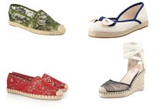 Valentino lace espadrilles. Love the one on the bottom right!