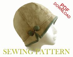 SEWING PATTERN  Lois 1920s Cloche Hat for by ElsewhenMillinery, $12.00