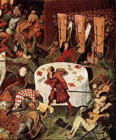 Pieter Bruegel the Elder. Le Triomphe de la Mort, détail de la partie inférieure droite, vers 1562