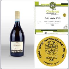 Gold medal at Challenge International du vin !#armason #labollina