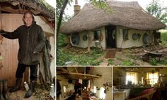 Michael Buck, a farmer from Oxfordshire, England, has used the ancient cob building technique to construct a small but cozy hobbit house, for which he paid just 150 pounds Cob Building, Green Building, Building A House, Casa Dos Hobbits, Natural Homes, Earth Homes, Green Architecture, Architecture Design, Natural Building