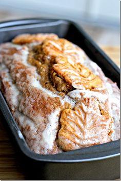 Visions of Sugar Plum: Maple Glazed Pumpkin Bread