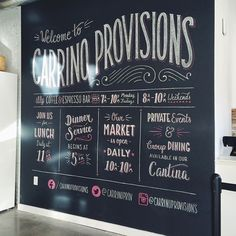 Cooking up some tasty chalk art for @carrinoprovisions in Jersey City today! Seriously this place smelled like a meatball sub for seven hours straight...best job ever 😛🍝 #type #typography #lettering #handlettering #chalkboard #chalklettering #restaurant #signage #italian #market #jerseycity
