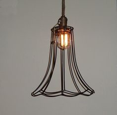 fluted metal cage pendant
