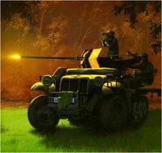 Sd.Kfz. 10-4 Demag D7 mit 2 cm Flak 30 Selbstfahrlafette, abriendo fuego contra un objetivo terrestre. Arkadiusz Wróbel  Los Sd.Kfz. 10-4 raramente eran marcados con emblemas de divisiones blindadas, de granaderos, infantería o de cualquier otra unidad, en su lugar llevaban una forma simple geométrica o una insignia rúnica, aunque hubo excepciones como aquellas que tenían como distintivos motivos heráldicos como la 3ra. Panzerdivision. Más en www.elgrancapitan.org/foro/