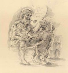 Sailor and his friend illo