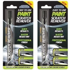 2 x CAR SCRATCH TOUCH UP REPAIR REMOVER REMOVAL BODY SHOP PAINT FIX IT PEN (New)