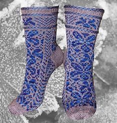 Ravelry: Sylva Socks pattern by Anja HS Hansen Fair Isle Knitting, Knitting Socks, Magic Loop, Free Fun, One Color, Rib Knit, Ravelry, Free Pattern, Rest