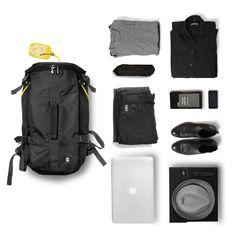 46f05ae8b449c Track Jack Barrel Backpack and things organised neatly Urban Fashion