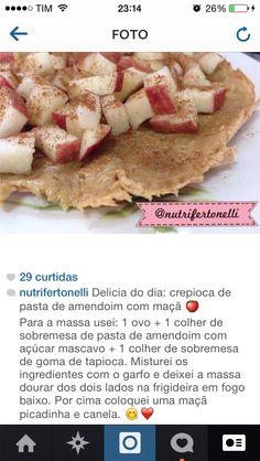 Nutricionista Fernanda Tonelli: crepioca de pasta de amendoim com maçã!