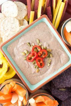 Black Bean Green Chile Hummus Dip