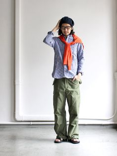 maillot マイヨ sunset gingham work shirts ギンガムワーク MAS-004