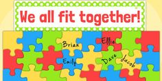 Large Class Puzzle Display - class puzzle, transition, display - twinkl