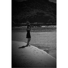 Beach, black and white. Mexico