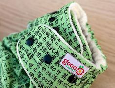 Kanji Notes One-Size Fitted Diaper by thegoodmama.com, via Flickr