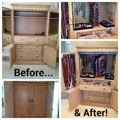 Accessory Organizer (made from old tv cabinet)