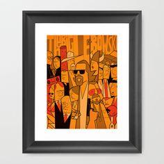 The Big Lebowski Framed Art Print by Ale Giorgini - $35.00