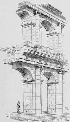 Greek Architecture Drawings An architectural cross...