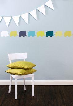 Wandtattoo - Tapetenaufkleber Elefanten, 10 Stück ELE 008 - ein Designerstück von melamei bei DaWanda