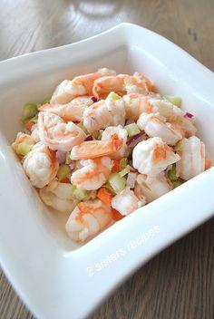 Easy Italian Shrimp Salad by 2sistersrecipes.com Shrimp Salad