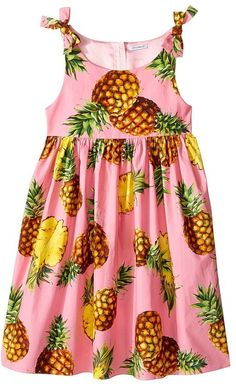 Dolce & Gabbana Kids - Tropical City Poplin Dress Girl's Dress