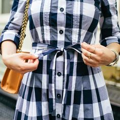 This is the gingham shirtdress I needed to havea few weeks ago after spotting it on a stranger outside of Grand Central Station. Unfortunately, it sold out pretty quickly (although it's available in some colors/sizes still), but I did hunt around the internet to find some other fabulous gingham options… just in time to finish...