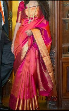 You searched for kanchipuram saree - Online Sale India South Indian Sarees, Indian Silk Sarees, Soft Silk Sarees, Pink Saree Silk, Silk Sarees With Price, Bridal Silk Saree, Indian Dresses, Indian Outfits, Indische Sarees