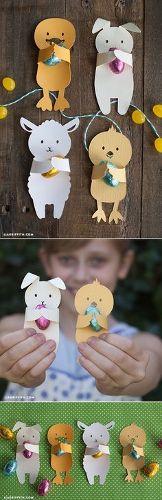 DIY Easter Candy Huggers is part of Easter crafts Candy - These DIY Easter candy huggers are the ultimate in cute Print and cut at home then have your kids hand them out in class as a cute Easter gift for friends Spring Crafts, Holiday Crafts, Holiday Fun, Kids Crafts, Easter Crafts, Easter Candy, Easter Eggs, Easter Projects, Craft Projects
