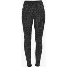 High-waisted knit leggings | Women's knit pants | Balmain ($1,040) ❤ liked on Polyvore featuring pants, leggings, high-waisted trousers, high waisted legging pants, highwaist pants, balmain and high-waisted leggings