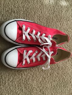 wholesale dealer 5402a 33ea6 CONVERSE Pink SNEAKERS SHOES WOMENS 9   MENS 7 New  fashion  clothing  shoes
