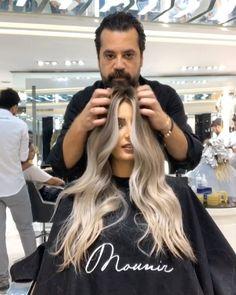 "61.2k Likes, 1,158 Comments - Mouniiiir (@mouniiiir) on Instagram: ""Hair color TRANSFORMATION by @mouniiiir #mouniiiir #risingmounir #haircolor #milkyway #blondehair…"""