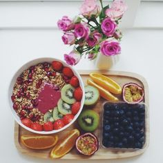 A colourful, sweet & healthy breakfast in bed is an easy to make Mother's Day treat that will always go down well.