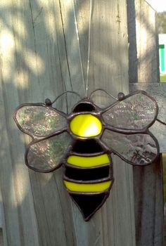 Stained Glass Bumble Bee  Suncatcher by SunshineGlassworks on Etsy, $10.00