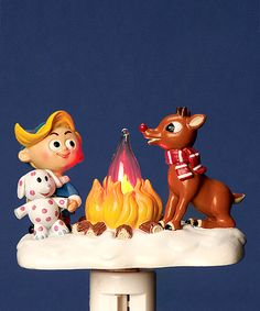 Campfire Rudolph Night-Light on the island of misfit toys at the Christmas in July sale! Cute stocking stuffer or holiday decoration