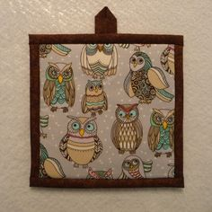 Owl Pot Holder, Owl Hot Pad, Owl Potholder by QueenBeeStitcheryTX on Etsy