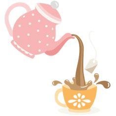 Pouring Tea Pot SVG cutting files for scrapbooking cute files cute clip art tea clipart free svgs silhouette cricut