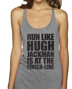 Run Like Hugh Jackman Is That Finish Line Racerbacks