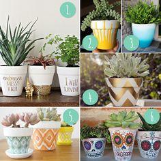 10 more DIY flower pot painting ideas for terra cotta pots